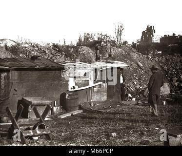 1930er Jahre 1932 GROSSE DEPRESSION HOOVERVILLE HOME CENTRAL PARK NEW YORK USA-q 73982 CPC 001 HARS GROSSE DEPRESSION - Stockfoto
