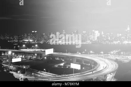 Schöne epische schwarz-weiß Foto von New York City Skyline - Stockfoto