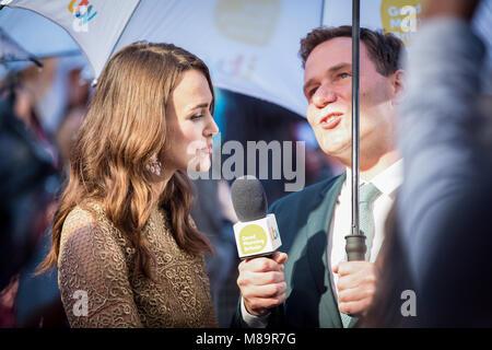 "London, UK, 8. Oktober 2014, Keira Knightley, ""die Nachahmung Spiel 'Opening Night Gala der BFI London Film Festival. - Stockfoto"
