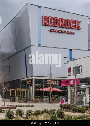 Red Rock Freizeitanlage, Stockport Stadtzentrum Einkaufszentrum, Merseyway - Stockfoto