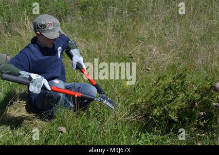 USFWS bei der Arbeit zum Schutz der Umwelt. - Stockfoto