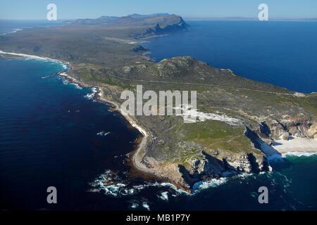 Kap der guten Hoffnung, Kap-Halbinsel, Cape Town, South Africa - Antenne - Stockfoto