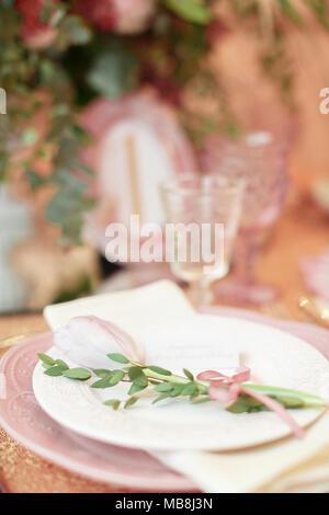 Platte im Restaurant - Stockfoto