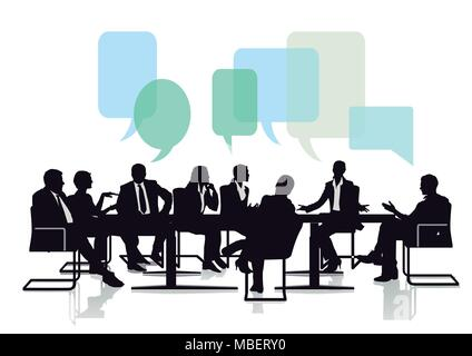Begegnung und Kommunikation aus einer Gruppe - Stockfoto