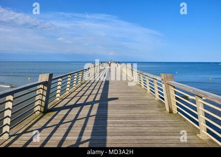 Frankreich, Vendée, Saint-Jean-de-Monts, der Anlegestelle - Stockfoto