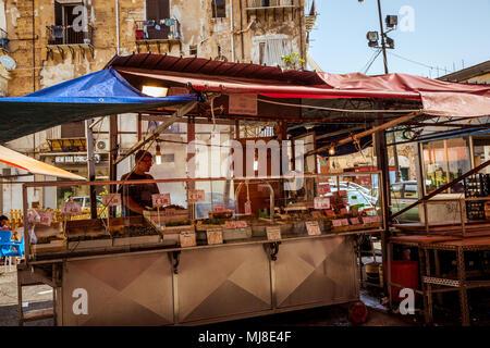 Palermo, Ballarò Markt, Sizilien, Italien - Stockfoto