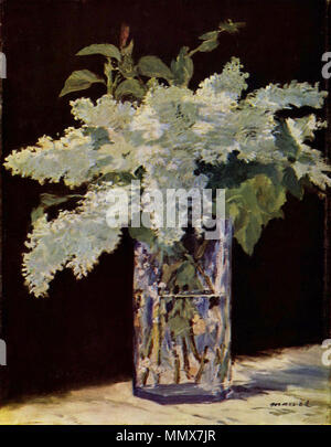 English: Stilleben, Fliederstrauß. 1883. Edouard Manet065 - Stockfoto