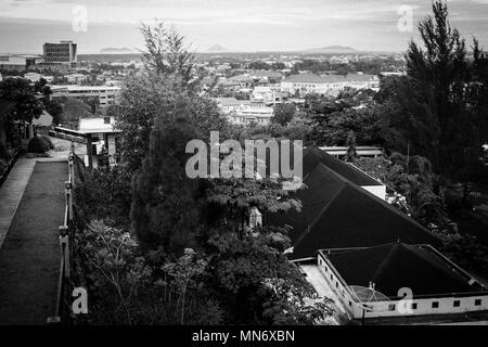 Blick auf die Stadt von der Oberseite der Villa - Stockfoto