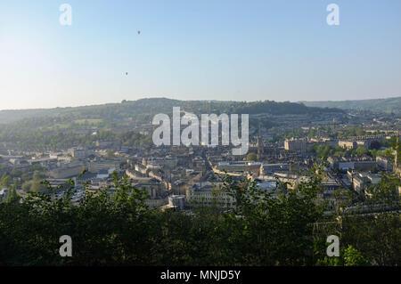 Am Abend Blick auf Badewanne von Alexandra Park, Badewanne, Somerset, England, Großbritannien - Stockfoto