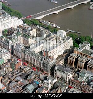 Der Strand und der Damm, Westminster, London, 2002. Artist: Unbekannt. - Stockfoto