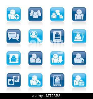 Social Media und Netzwerksymbole-Vektor Icon Set - Stockfoto