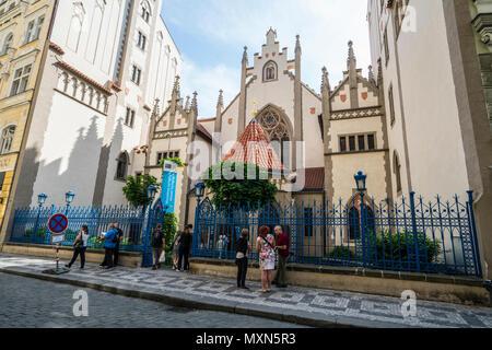 Der Eingang des Jüdischen Museums in Prag, Tschechische Republik - Stockfoto