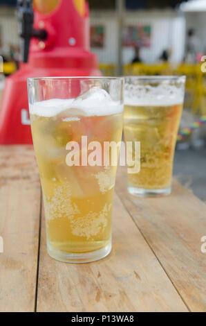 Glas helles Bier - Stockfoto