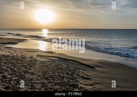 Frankreich, Arcachon Bucht, Strand an der Unterseite der Dune de Pilat - Stockfoto