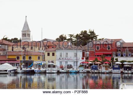 Europa, Kroatien, Istrien, Novigrad, Hafen - Stockfoto