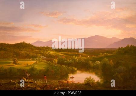 Fluss in den Catskills, Thomas Cole, 1843, Museum der Bildenden Künste, Boston, Mass, USA, Nordamerika - Stockfoto