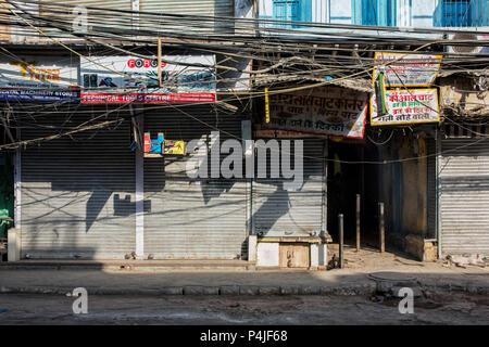 Delhi, Indien. Alte Gebäude Muster in chandni Chowk - Stockfoto