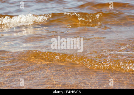 Welle Meer Strand auf Top View close up Textur - Stockfoto