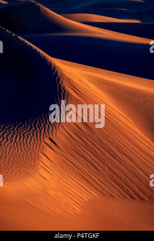 Am frühen Morgen bei Mesquite Flats Sanddünen - Stockfoto