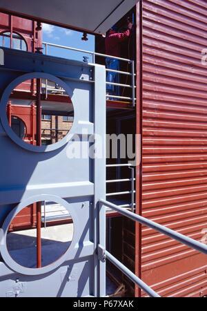 Modulare Unterkunft von umgebauten Container gemacht - Stockfoto