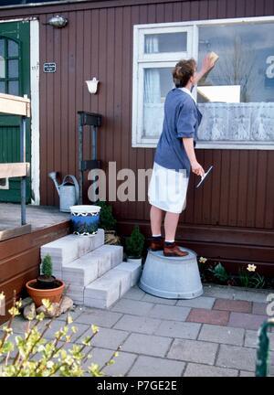 100-008-136 Bezirk Krankenschwester Waschen der Windows, SerieCVS 100006035 - Stockfoto