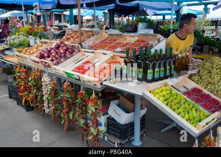 Markt, Rovinj, Istrien, Kroatien - Stockfoto
