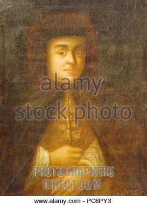 438 Natalia Naryshkina von schurmann Karl (nach 1710, Twer Galerie) - Stockfoto