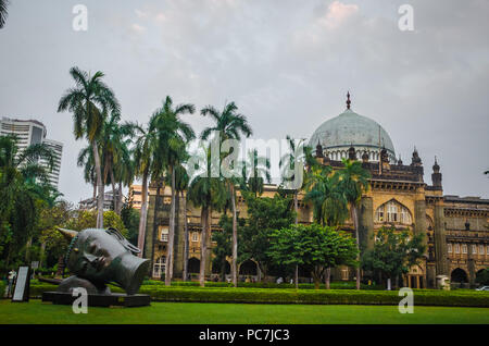 Chhatrapati Shivaji Maharaj Vastu Sangrahalaya, (ehemals Prinz von Wales Museum) Mumbai, Indien. Das Museum hat die Sammlung von 50.000 Artefakte ca. - Stockfoto