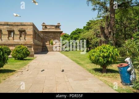 Champaner ist ein UNESCO Weltkulturerbe in der Nähe von Vadodara in Gujarat. - Stockfoto