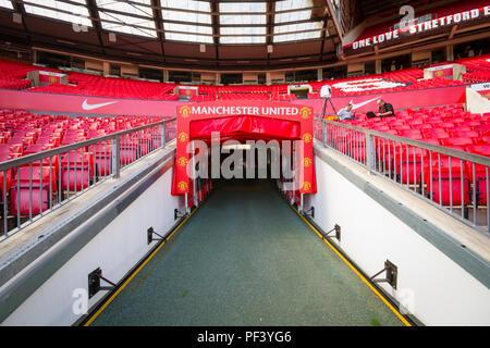 In Old Trafford. Zuhause von Manchester United Football Club. - Stockfoto