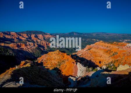 Bryce Canyon National Park, im Südwesten Utahs. Der Park verfügt über eine Sammlung von riesigen natürlichen Amphitheater und unterscheidungskräftig ist, da die geologischen Strukturen genannt Hoodoos - Stockfoto