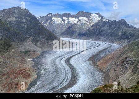 Aletschgletscher in der Schweiz - Stockfoto