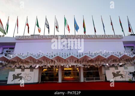 Venedig, Italien. 30. Aug 2018. Palazzo del Cinema während der 75. Internationalen Filmfestspielen von Venedig am 30. August 2018 in Venedig, Italien Quelle: Geisler-Fotopress GmbH/Alamy leben Nachrichten - Stockfoto