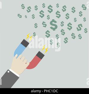 Magnet für Dollar - Stockfoto