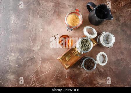 Glas heiße Tasse Tee - Stockfoto