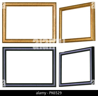 Eine gerade und eine Schräge von zwei verschiedenen Bilderrahmen - Stockfoto