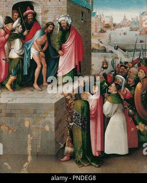 Ecce Homo. Datum/Zeitraum: Zwischen 1480 und 1490. Malerei. Öl und Tempera auf Eiche. Höhe: 71 cm (27.9 in); Breite: 61 cm (24 in). Autor: Hieronymus Bosch. Bosch, Hieronymus. - Stockfoto