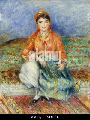 Algerischen Mädchen. Datum/Zeitraum: 1881. Malerei. Öl auf Leinwand. Höhe: 508 mm (20 in); Breite: 406 mm (15.98 in). Autor: Renoir, Pierre-Auguste. - Stockfoto