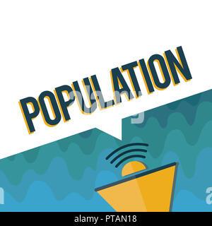 Handschrift text Bevölkerung. Konzept Sinn alle Einwohner von einem bestimmten Ort Menschen Dichte. - Stockfoto