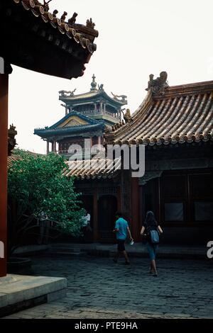 Peking/China, 15. MAI 2010: einzigartige historische Gebäude innerhalb der Verbotenen Stadt Mauern - Stockfoto