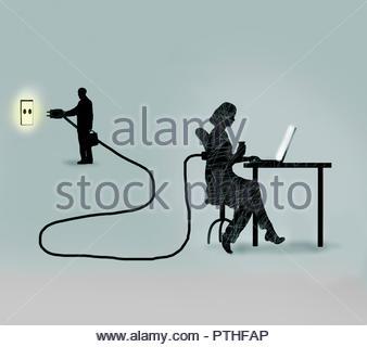 Geschäftsmann Einstecken weibliche Büroangestellte - Stockfoto