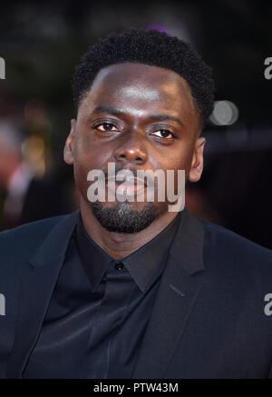 Daniel Kaluuya anreisen, für die 62 BFI London Film Festival Opening Night Gala Screening von Witwen im Odeon Leicester Square, London statt. - Stockfoto