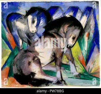 Zwei Pferde 1913 Franz Marc 1880-1916 Frankreich Französisch - Stockfoto
