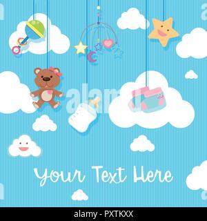 Hintergrund Design mit Baby Artikel Abbildung - Stockfoto