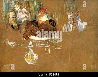 Henri de Toulouse-Lautrec, am Tisch von Monsieur und Madame Natanson, 1898 Öl auf Karton, das Museum der feinen künste, Houston, USA. - Stockfoto