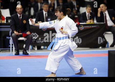 Madrid, Madrid, Spanien. 6 Nov, 2018. Sandra Sanchez von Spanien in Aktion während der Frauen Karate Kata Wettbewerb des 24. Karate Weltmeisterschaften am WiZink Center sport Halle in Madrid Credit gesehen: Manu Reino/SOPA Images/ZUMA Draht/Alamy leben Nachrichten - Stockfoto