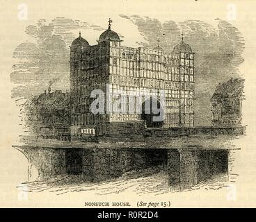 """""""Nonsuch House', (c 1872). Schöpfer: Unbekannt. - Stockfoto"""