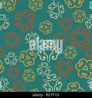 blau islamischen muster. nahtlose arabische geometrische