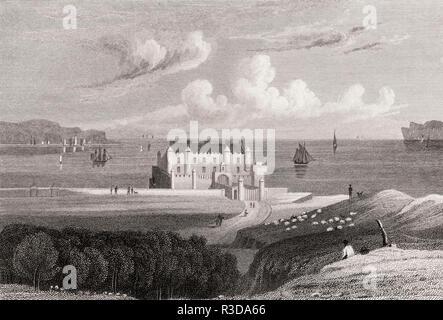 Thurso Castle, Thurso, Caithness, 19. Jahrhundert, von modernen Athen von Th. H. Hirte - Stockfoto