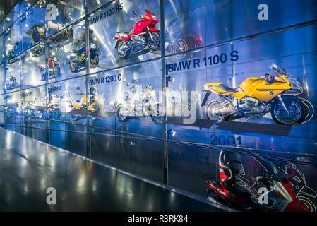 Deutschland, Bayern, München. BMW Museum, BMW Motorräder (Redaktionelle nur verwenden) - Stockfoto